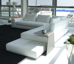 Summer leather sofa by Cierre