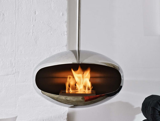 Cocoon Aeris Fire in Polished steel