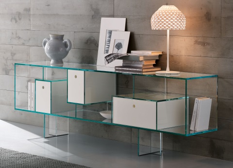 Liber glass sideboard from Tonelli