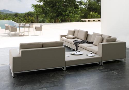 Manutti Zendo Garden Sofa in Pebble