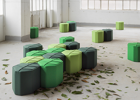 Leaf stools.  Design by nico