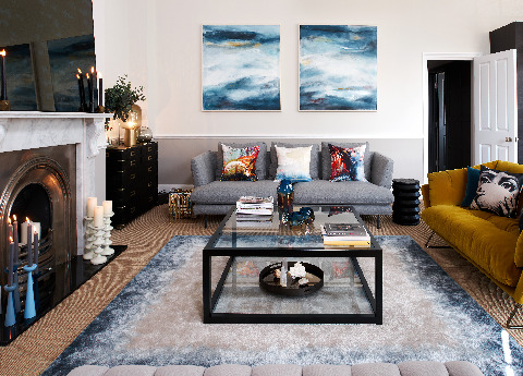 Georgian apartment, Cheltenham - Bonaldo Lars sofa