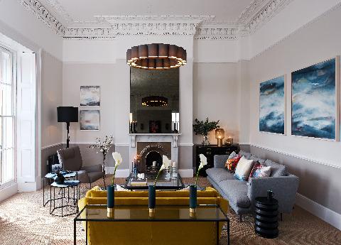 Bonaldo's Lars sofa (R) Nikos armchair(L) Saba Italia New York Suite sofa