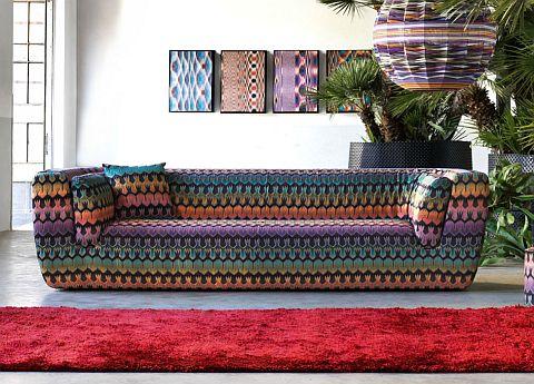 Missoni Home Innitil three seat sofa
