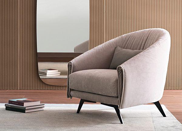 Bonaldo Saddle Armchair / Easy Clean Fabrics