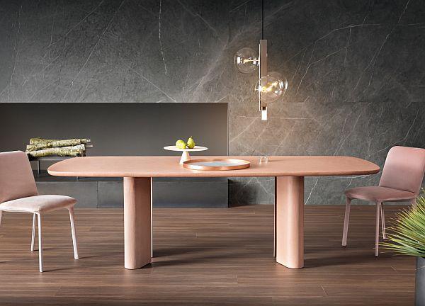 Award-winning geometric dining table