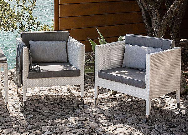 Smania Palau garden armchair in synthetic rattan