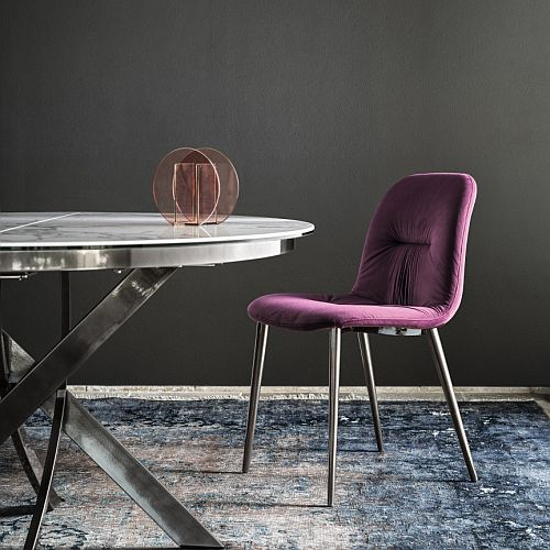 Bontempi Chantal Dining Chair with Metal Legs
