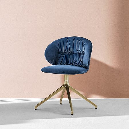 Bontempi Drop Dining Chair with Swivel Base