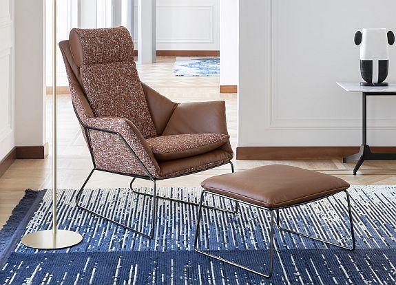 Mix and match - Saba New York Bergere Armchair & stool
