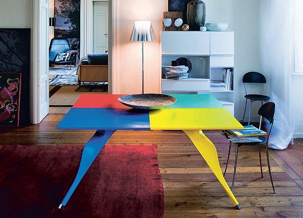 Colour Blocking - Zanotta Macaone dining table