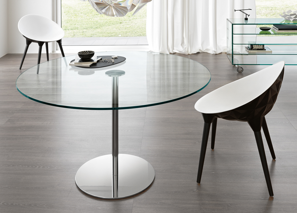 Tonelli Farniente Round Glass Table Round Glass Dining Tables