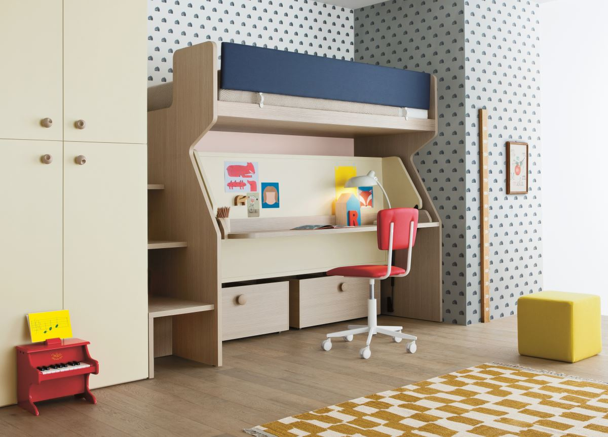 Picture of: Battistella Tippy Bunk Bed And Desk Contemporary Bunk Beds From Italy