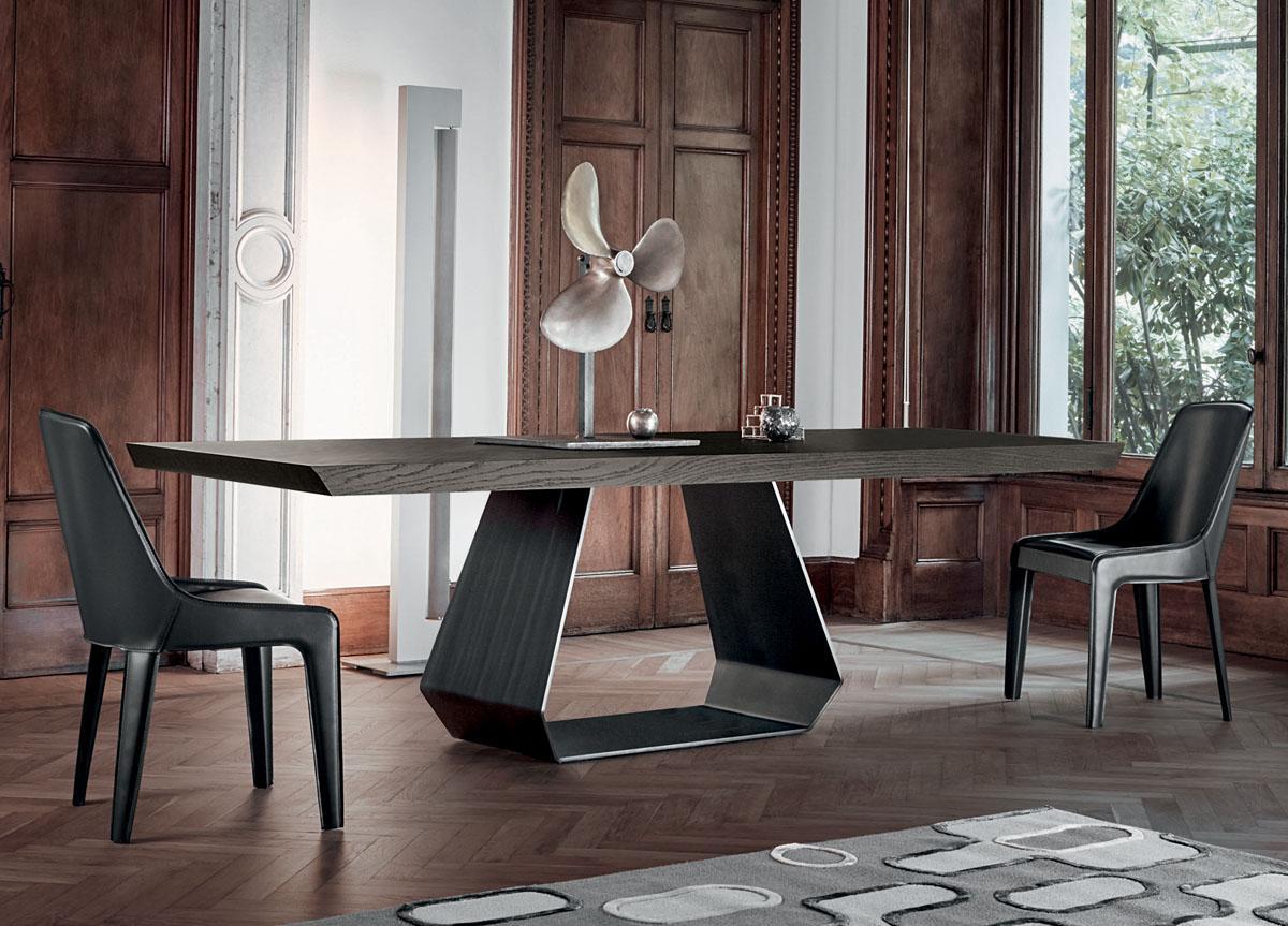 Picture of: Bonaldo Amond Solid Wood Dining Table Bonaldo Tables At Go Modern