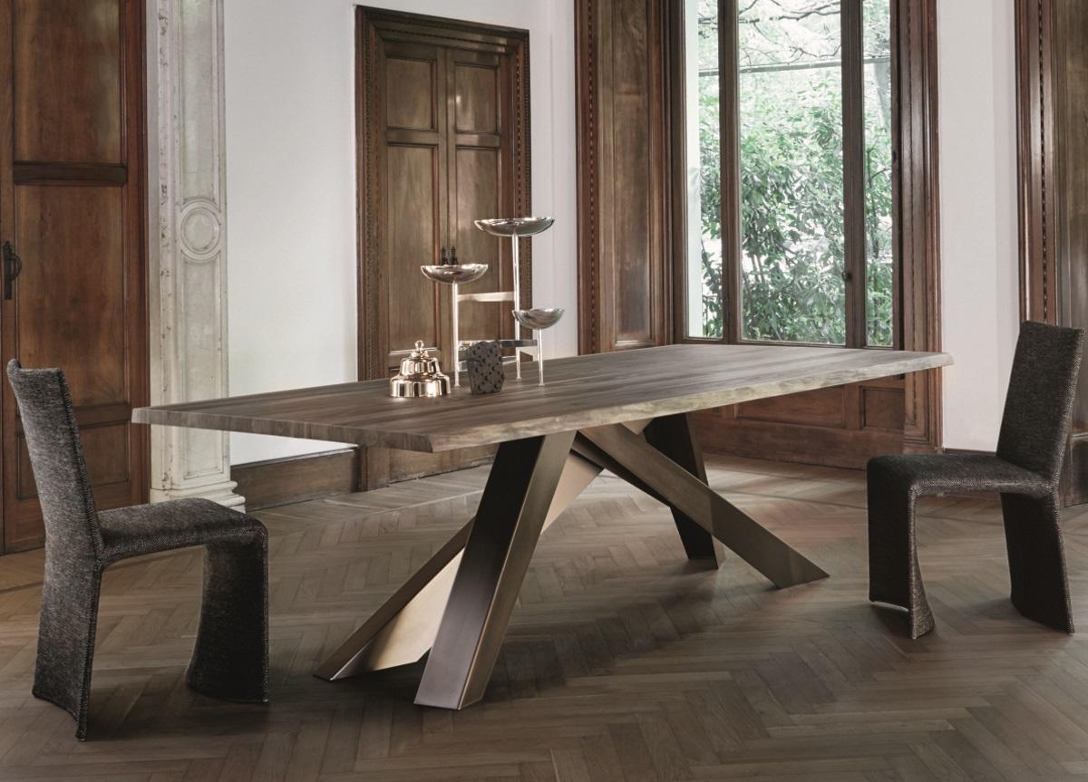 Bonaldo Big Dining Table In American, Walnut Dining Room Furniture Uk