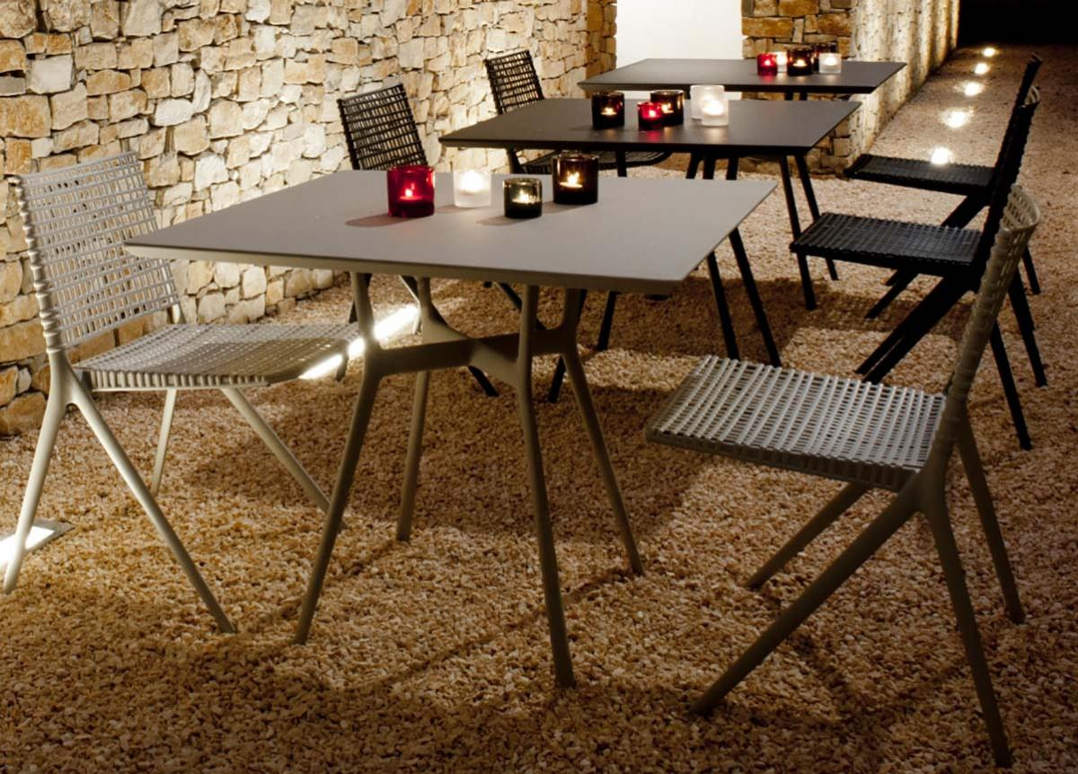 Tribu Branch Square Garden Bistro Table