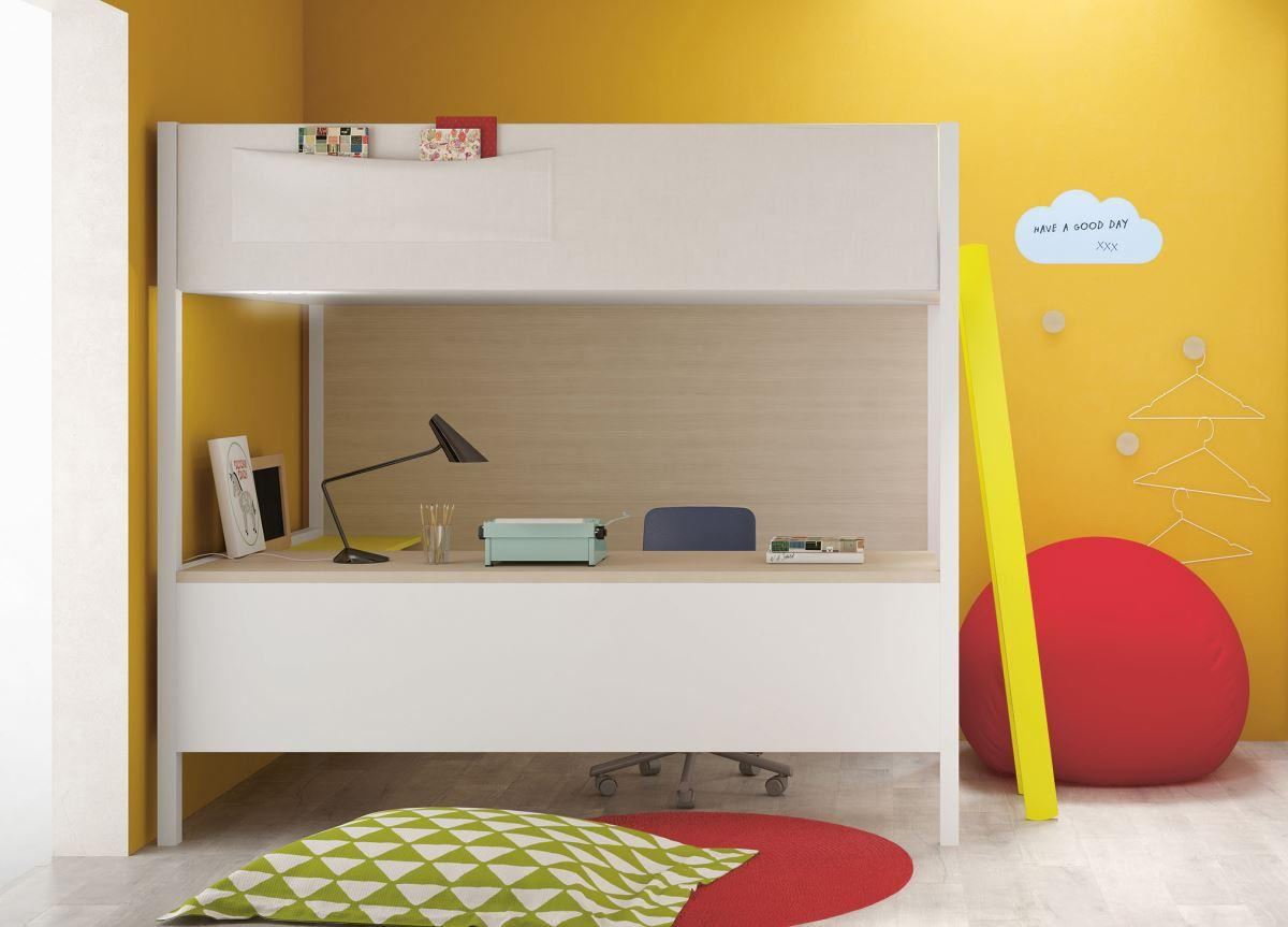Battistella Camelot Loft Bed with Desk