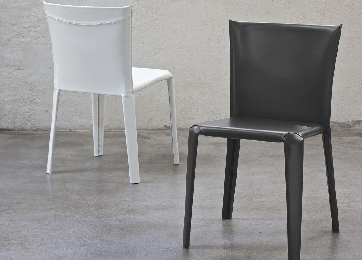 Bontempi Clark Leather Dining Chair