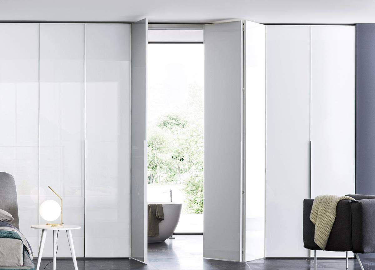 Crystal Wardrobe With Folding Glass Doors
