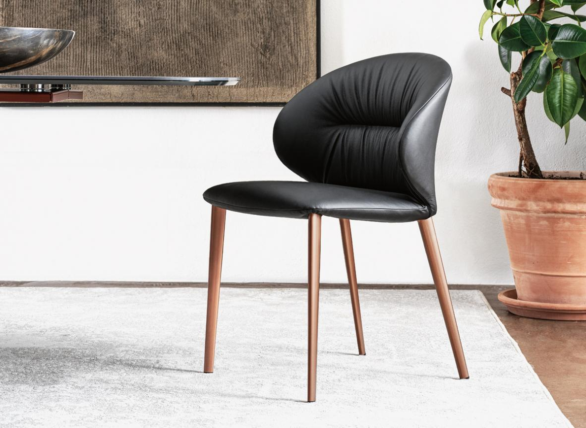 Bontempi Drop Dining Chair with Metal Legs