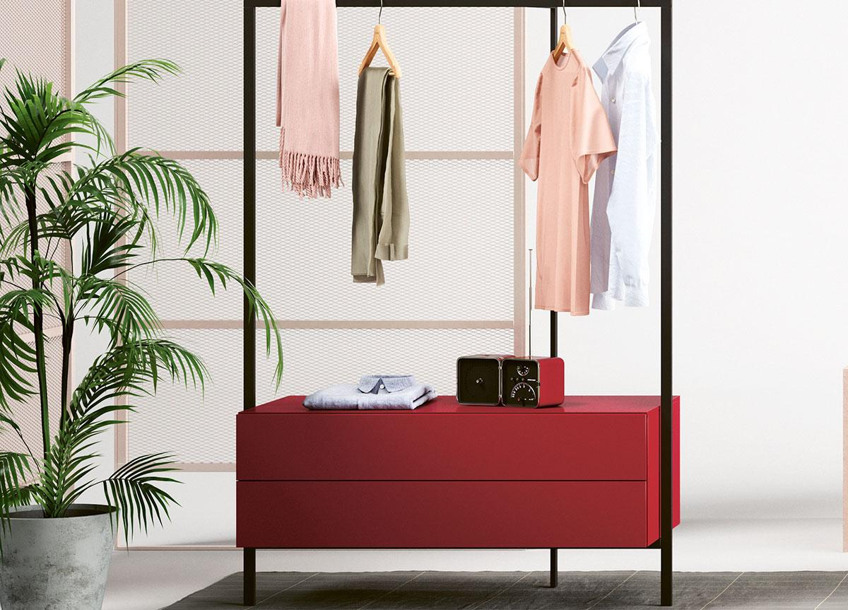 Novamobili Easy Clothes Rail and Drawers
