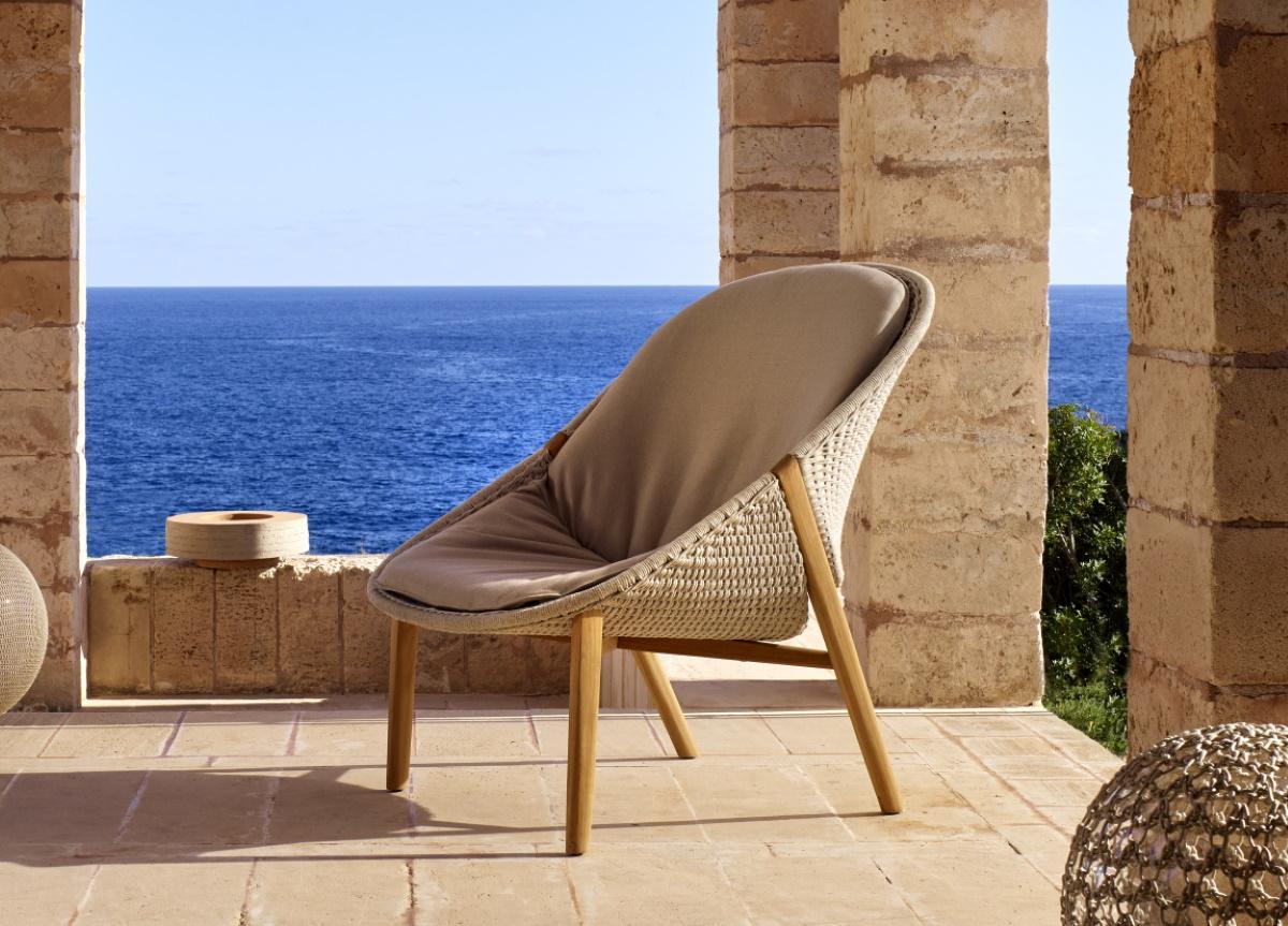 Picture of: Tribu Elio Garden High Back Lounge Chair Tribu Outdoor Furniture London