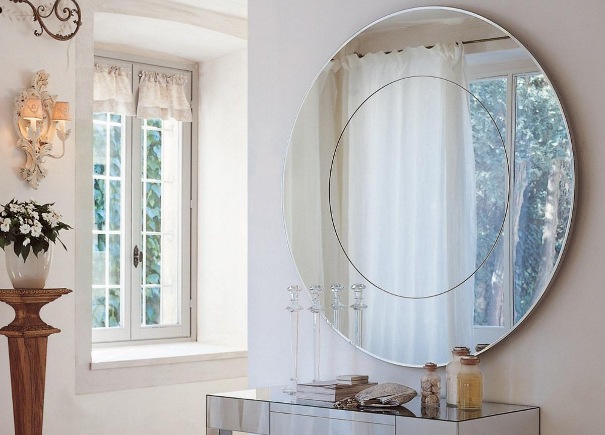Porada Four Seasons Round Glass Mirror