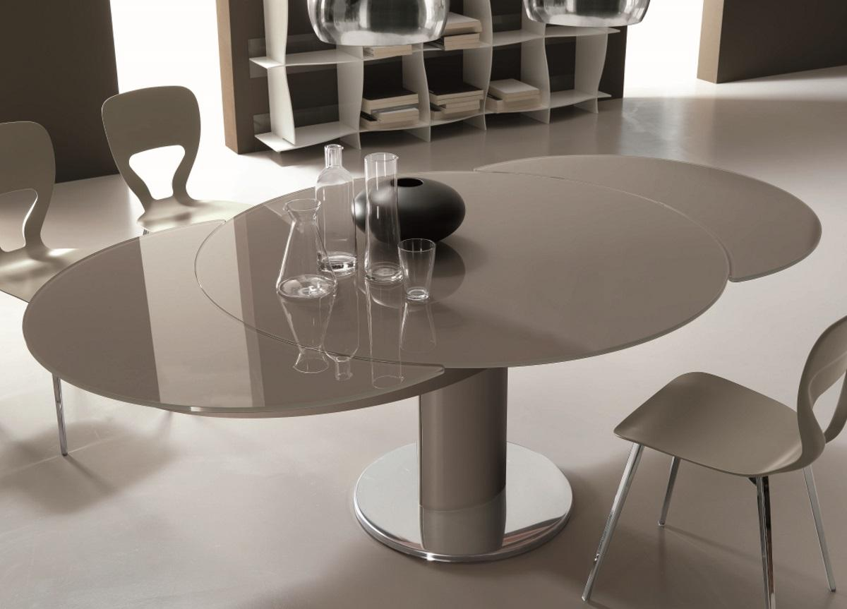 Bontempi Giro Round Extending Dining Table Bontempi Tables Bontempi Casa