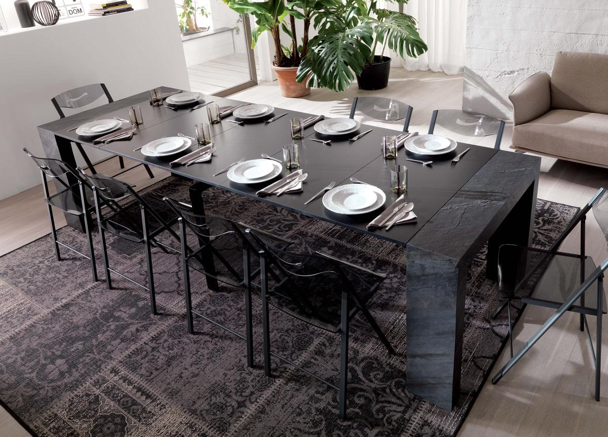 Ozzio Glass Console/Dining Table