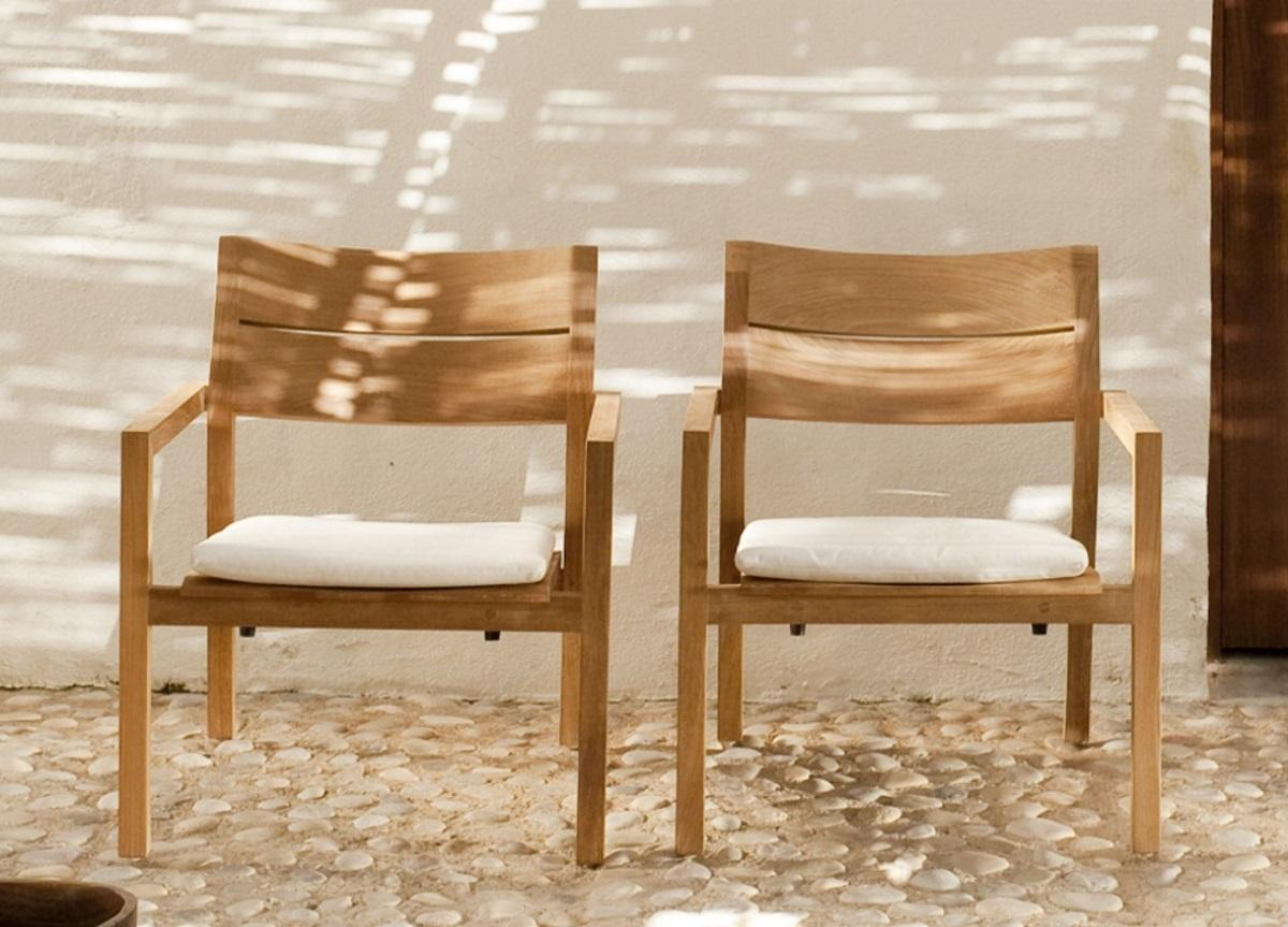 Tribu Kos Teak Garden Easy Chair