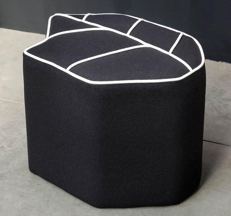 Design By Nico Leaf Stool With Contrasting Piping