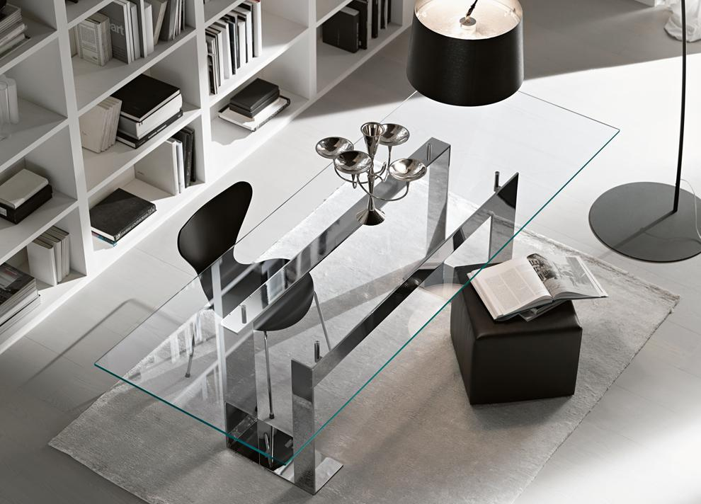 Tonelli Miles Glass & Chrome Dining Table