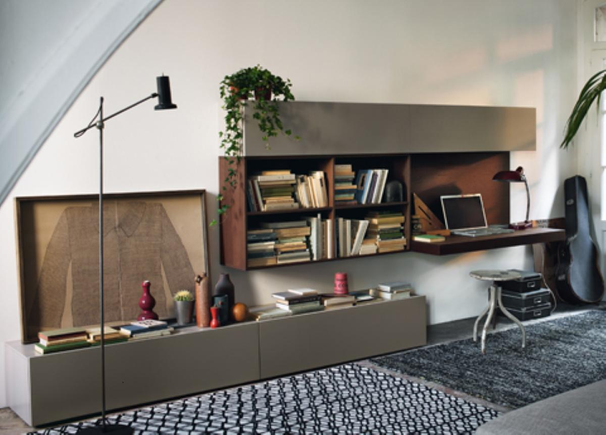 Jesse Open View Wall Unit & Home Office