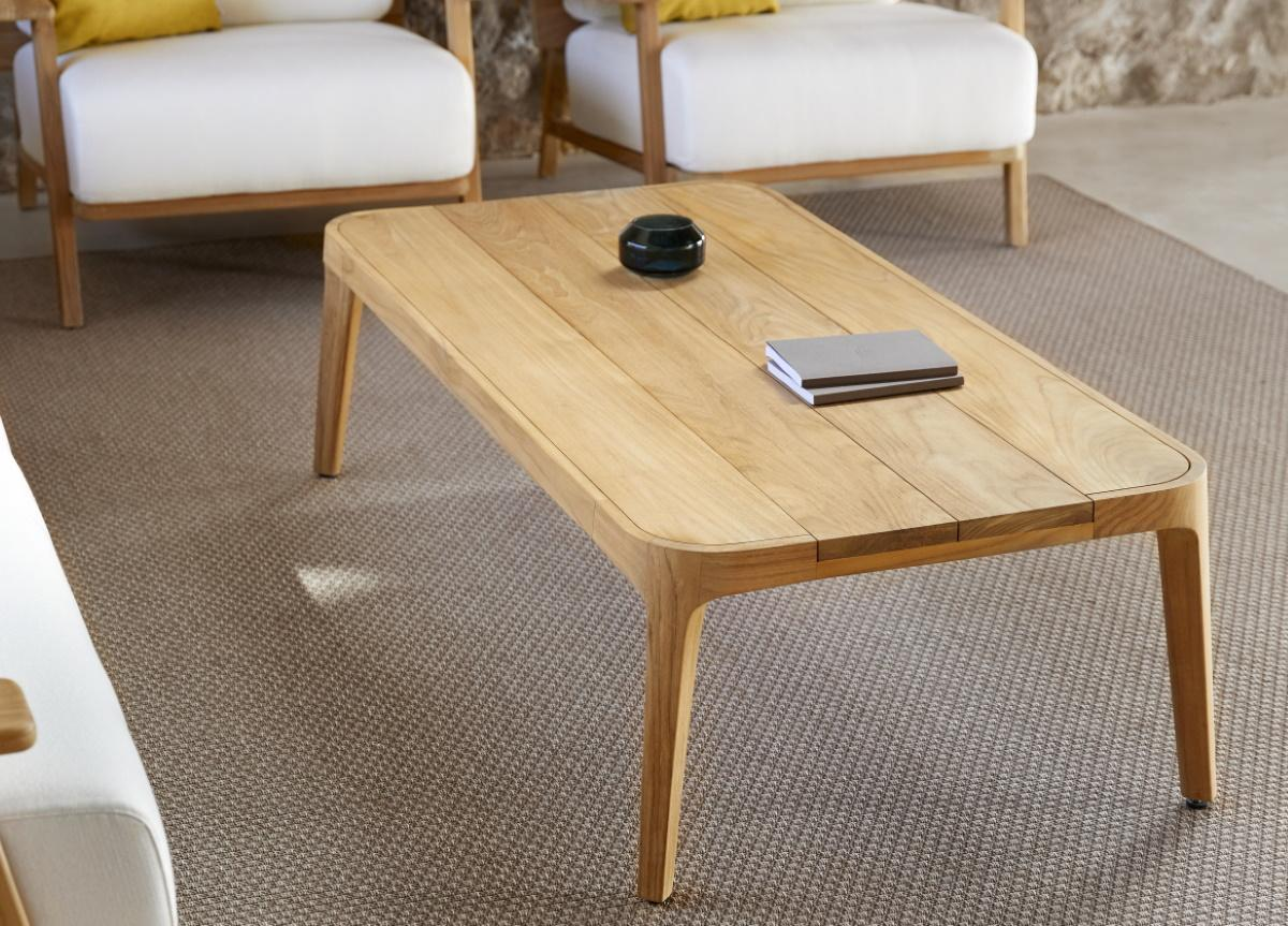 Paralel Rectangular Garden Coffee Table