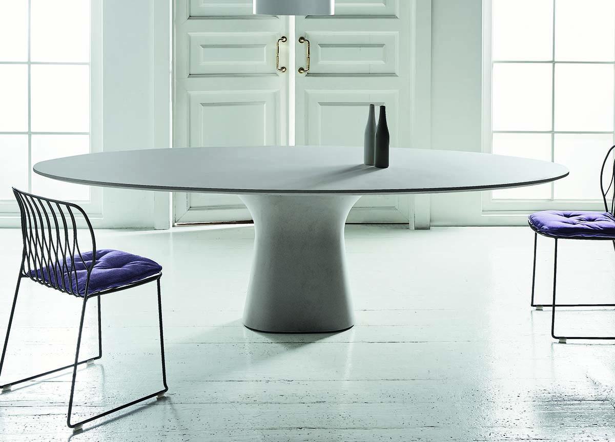 Picture of: Bontempi Podium Oval Dining Table Bontempi Tables Bontempi Casa