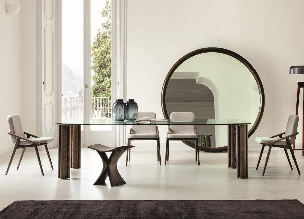 Porada Quadrifoglio Crystal Dining Table