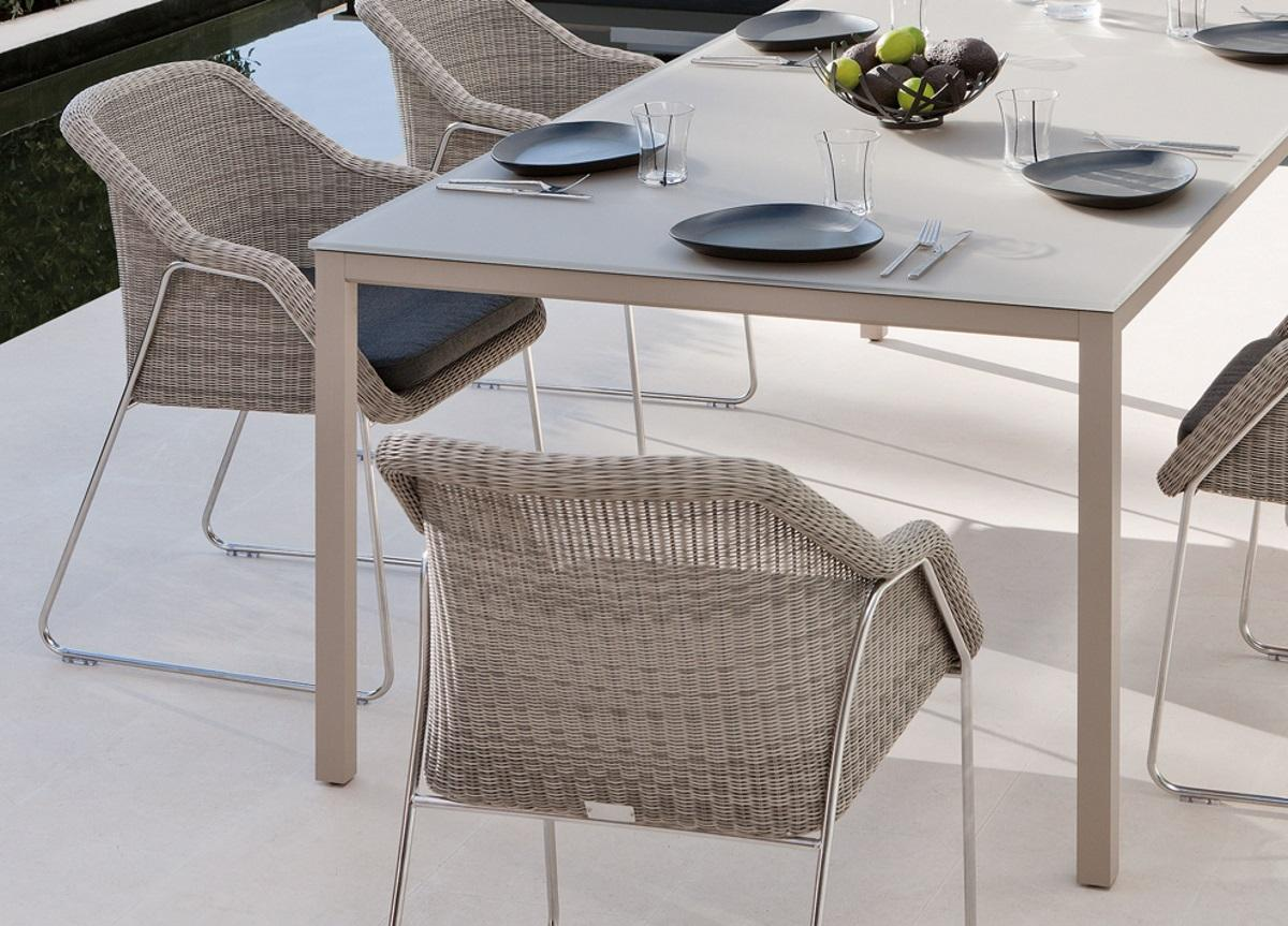 Manutti Quarto Square Garden Table