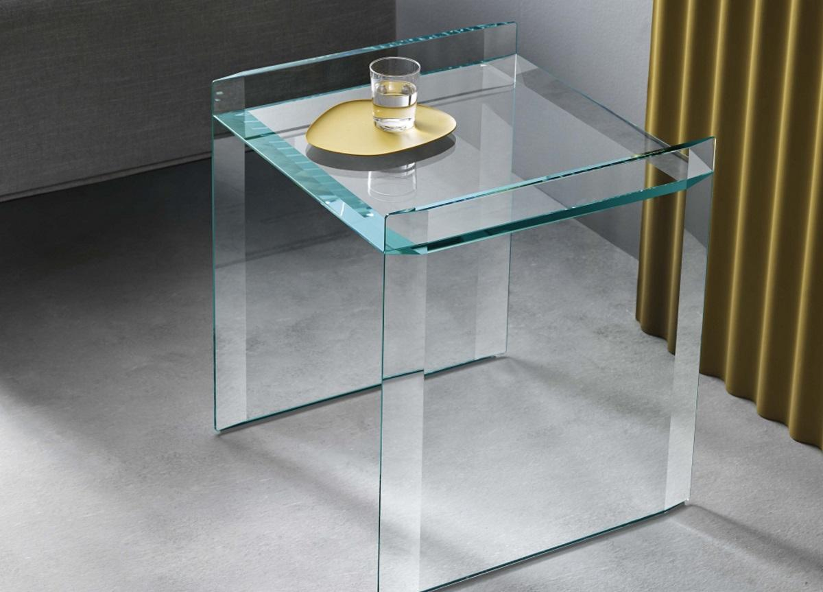 Tonelli Quiller Glass Side Table