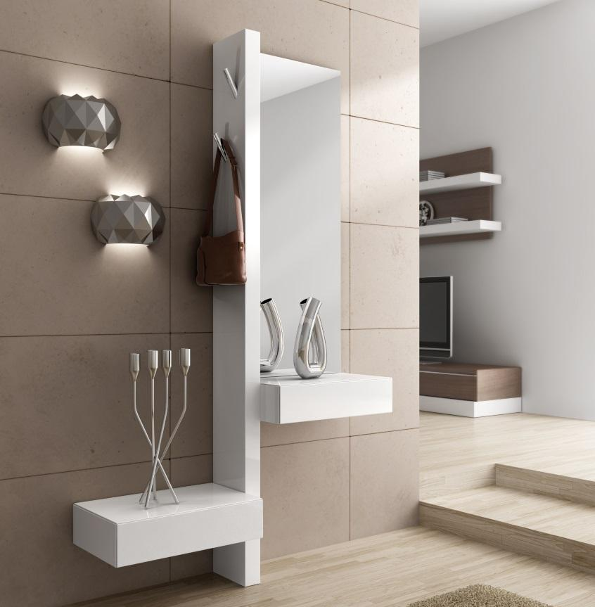 Richi Contemporary Mirror With Drawers Contemporary Wall Mirrors
