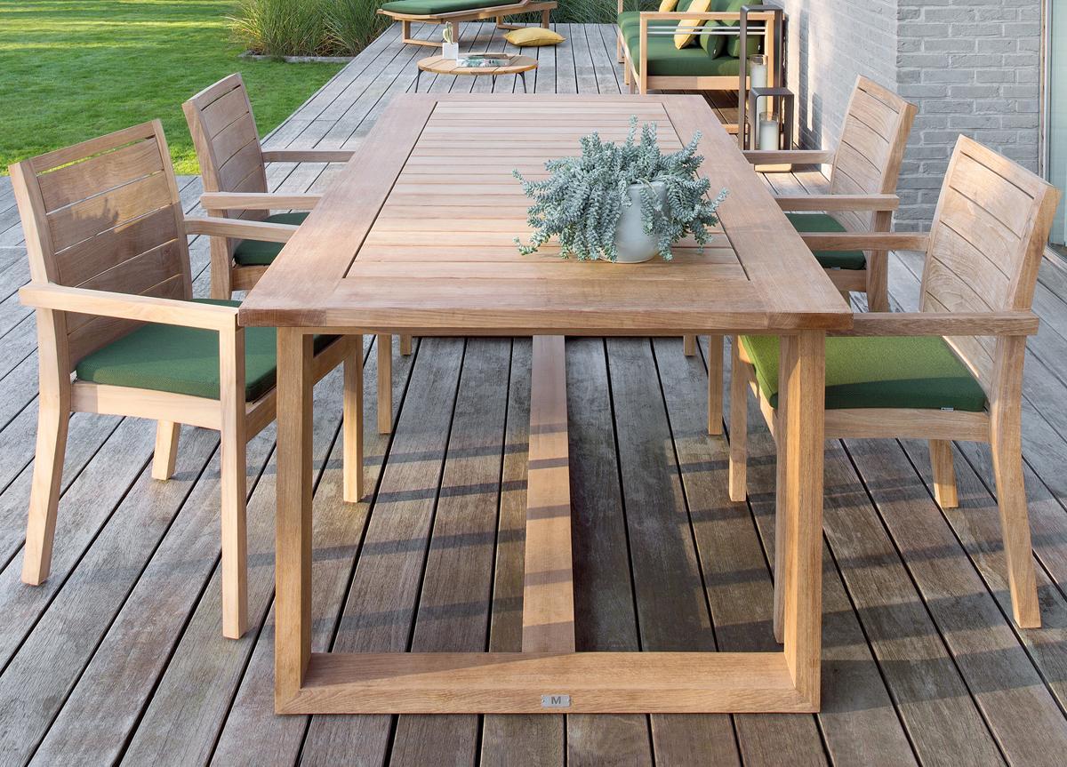 Teak Garden Table >> Manutti Siena Teak Garden Table