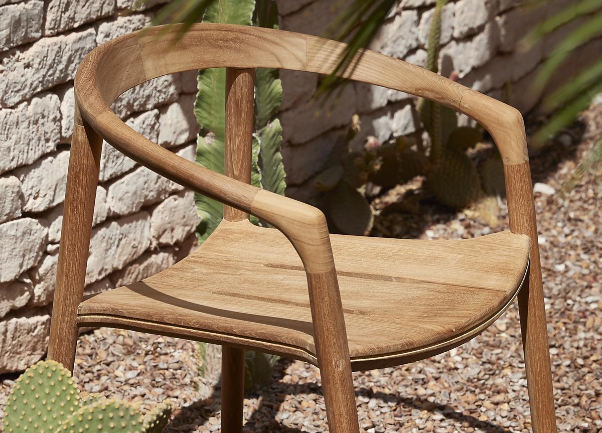 Manutti Solid Garden Dining Chair