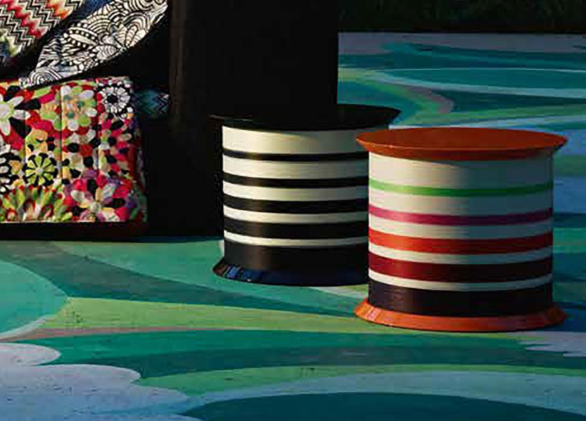 Missoni Home Spool Colour Side Table