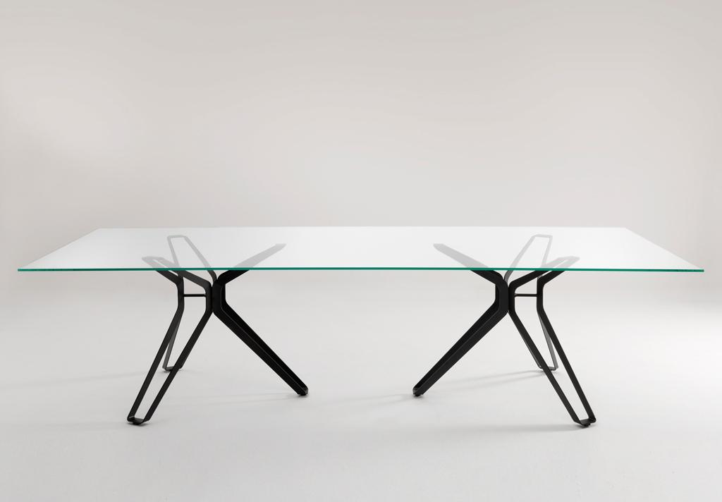 Lema 3 Pod Glass Dining Table