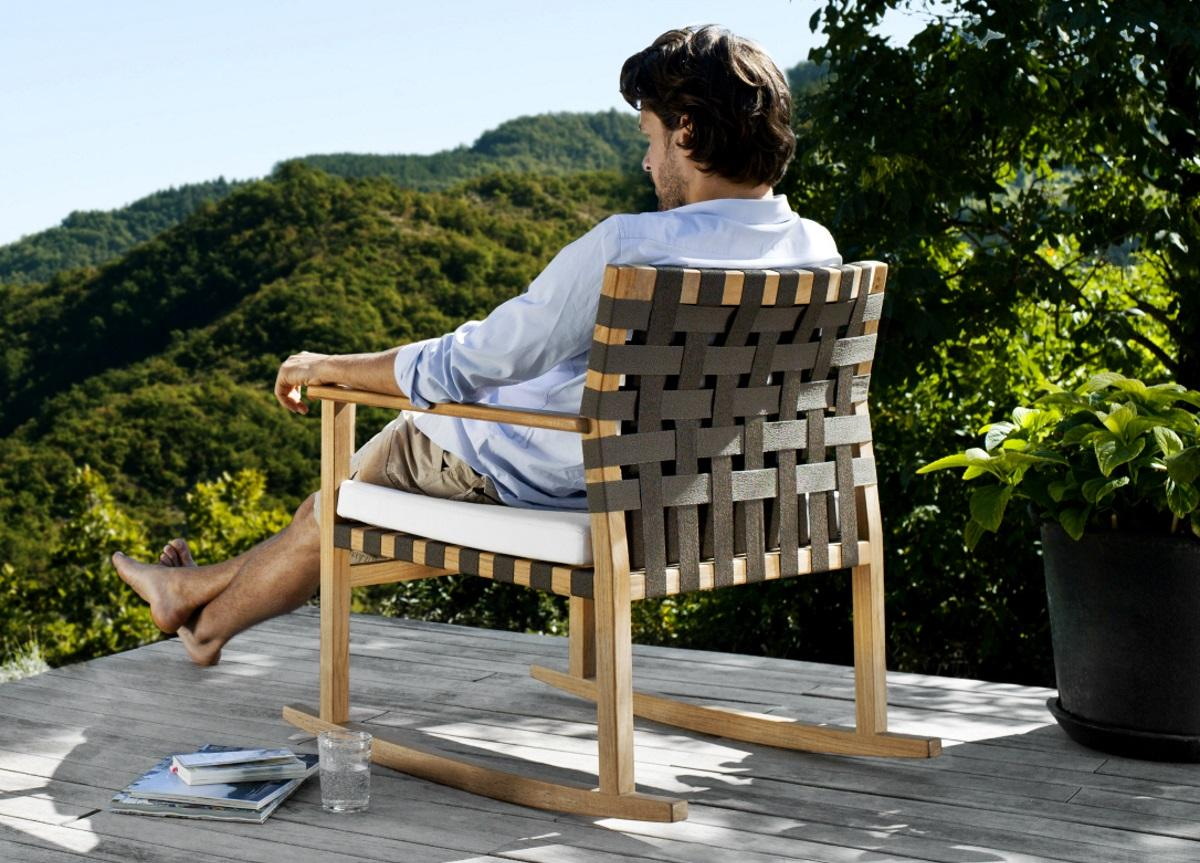 Tribu Vis A Vis Garden Rocking Chair
