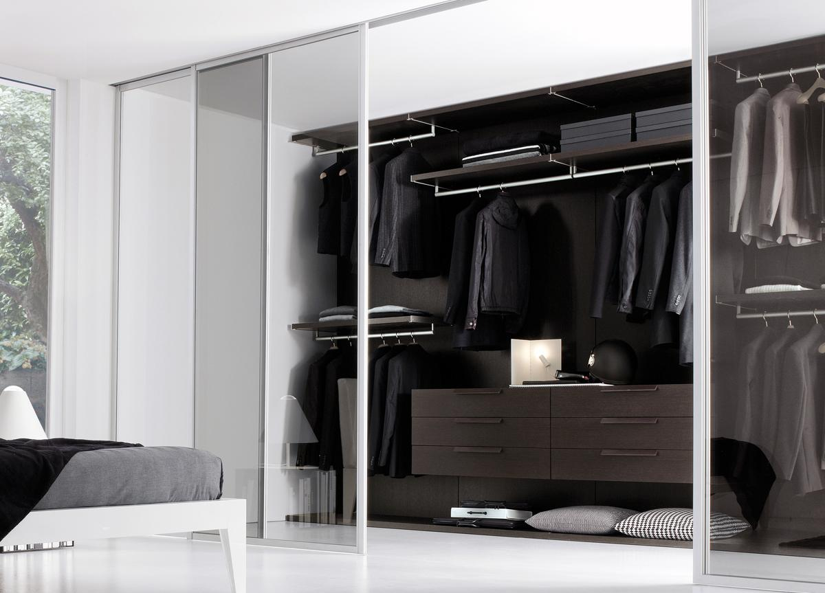 Jesse Walk In Wardrobe With Smoked Glass Doors