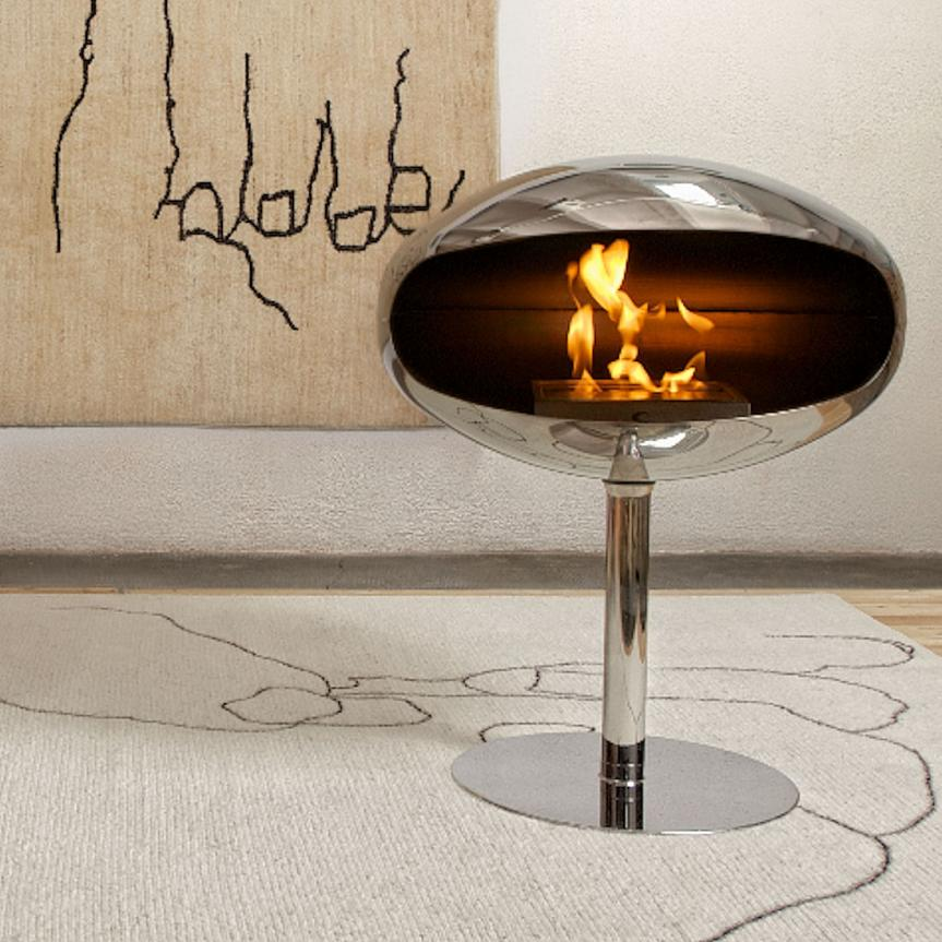 Cocoon Pedestal Fire - Stainless steel, With 316 Stainless Steel Stand
