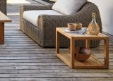 Manutti Siena Teak Garden Side Table