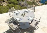 Tribu T-Table Round Garden Dining Table