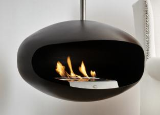 Cocoon Aeris Hanging Fireplace - Black