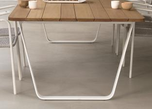 Manutti Air Garden Table - Iroko Hardwood Top
